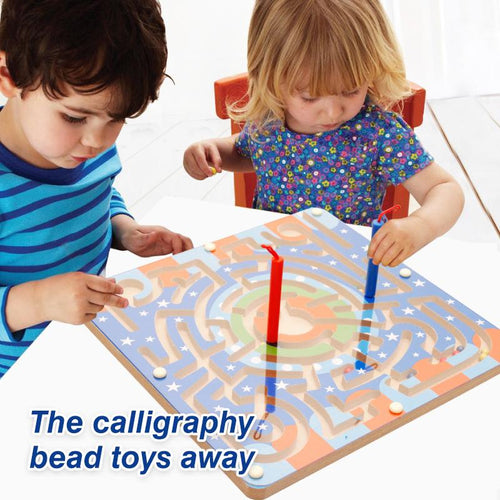 Children's educational toy 2-in-1 magnetic pen maze