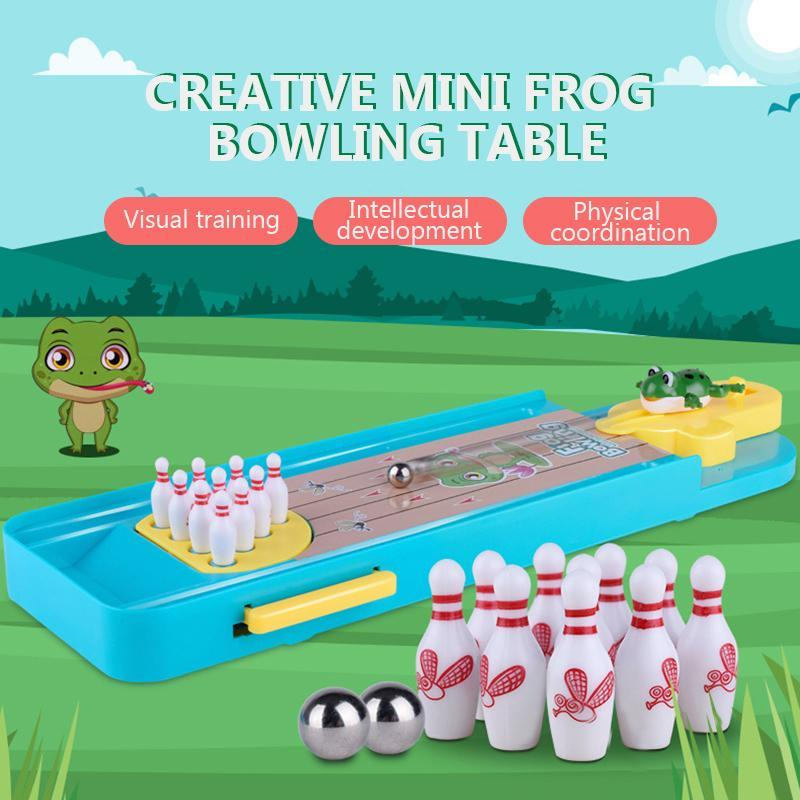 Creative Mini Frog Bowling Table