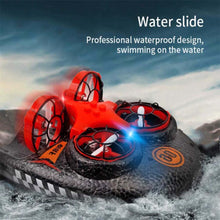 Load image into Gallery viewer, Sea, Land and Air Amphibious Mini Drone Remote Control Car Simulation Hovercraft