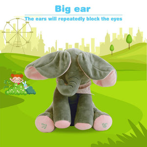 Music plush elephant, Hide-and-seek game Electric toys