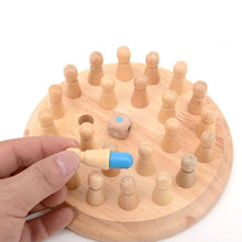 Load image into Gallery viewer, Wooden Memory Match Stick Chess