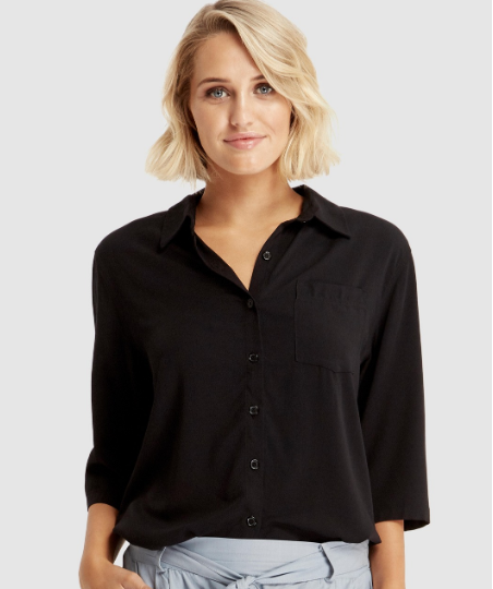 Bamboo Black Blouse