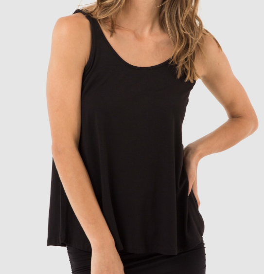 Relaxed Bamboo Singlet- Black