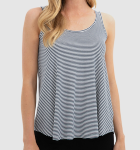 Relaxed Bamboo Singlet- Navy