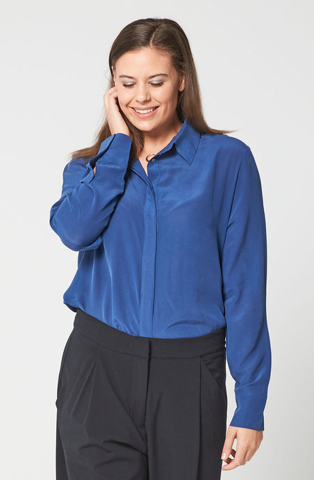 Silk Shirt - Blue