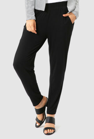 Peggy Bamboo Trouser - Black