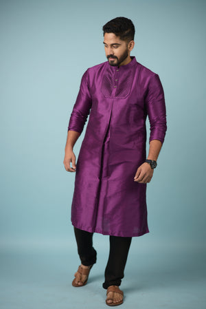 Magenta Colour Kurta
