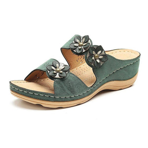 DE - Paris Design Fancy Flower Women Open Toe Sandals