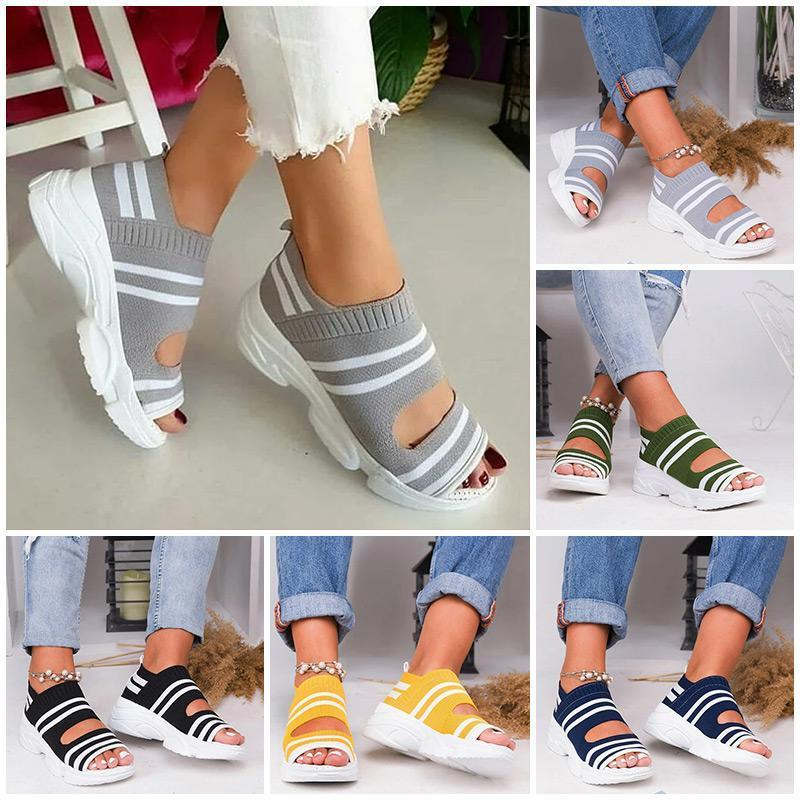 DE - Casual Woven Wedge Comfy Open Toe Sandals