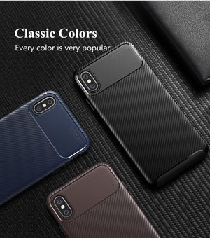 Carbon fiber silicone case for iPhone