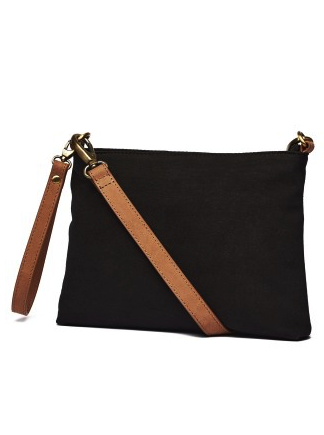 Athena Canvas Pouch - Black