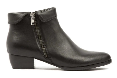 Django & Juliette Twinzip Boots - Black Leather