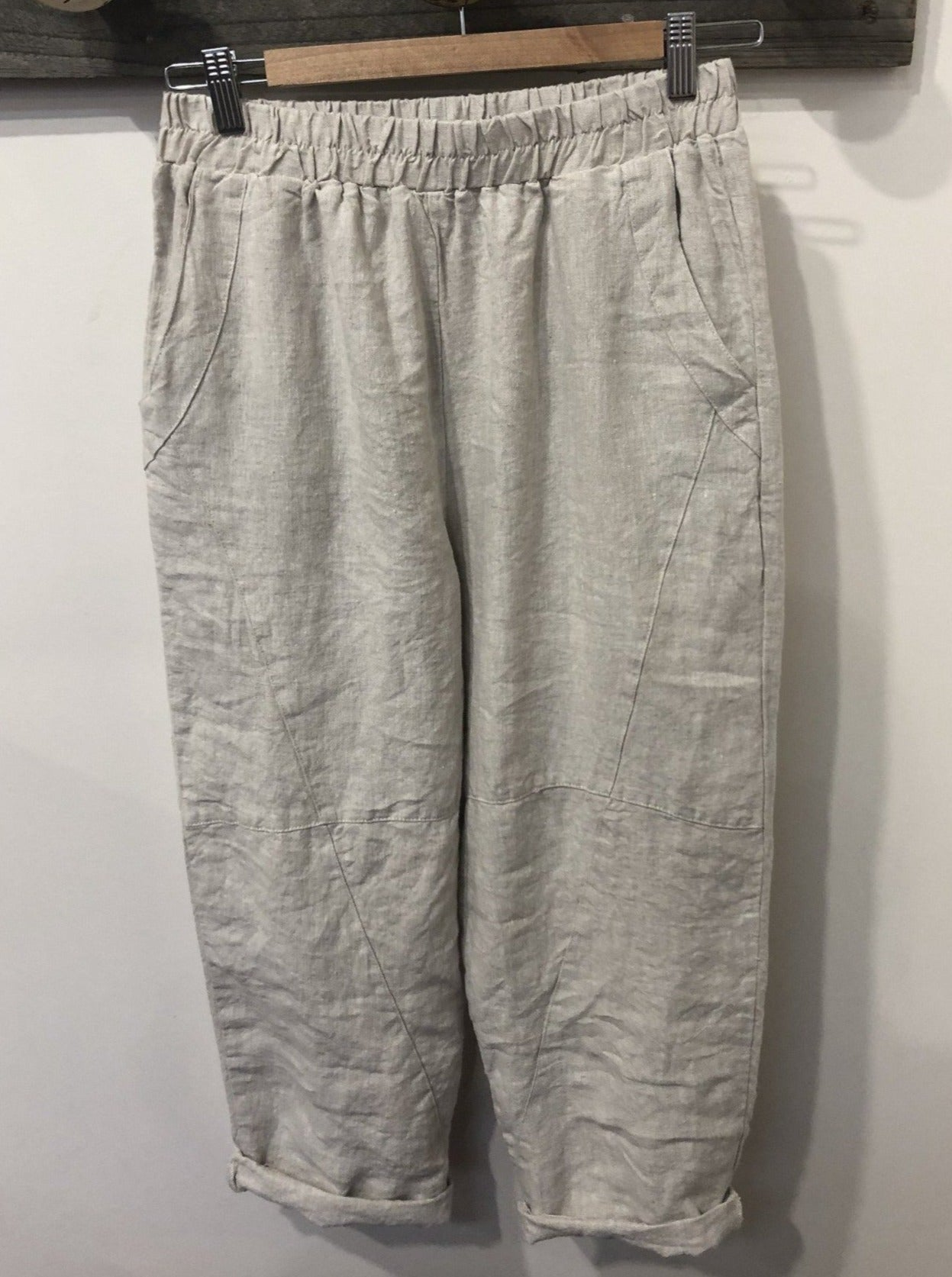 Asha Linen Pant Relaxed Fit - Natural