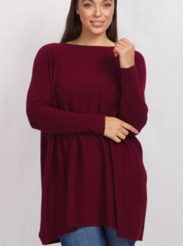 Abby Oversized Knit - Wine