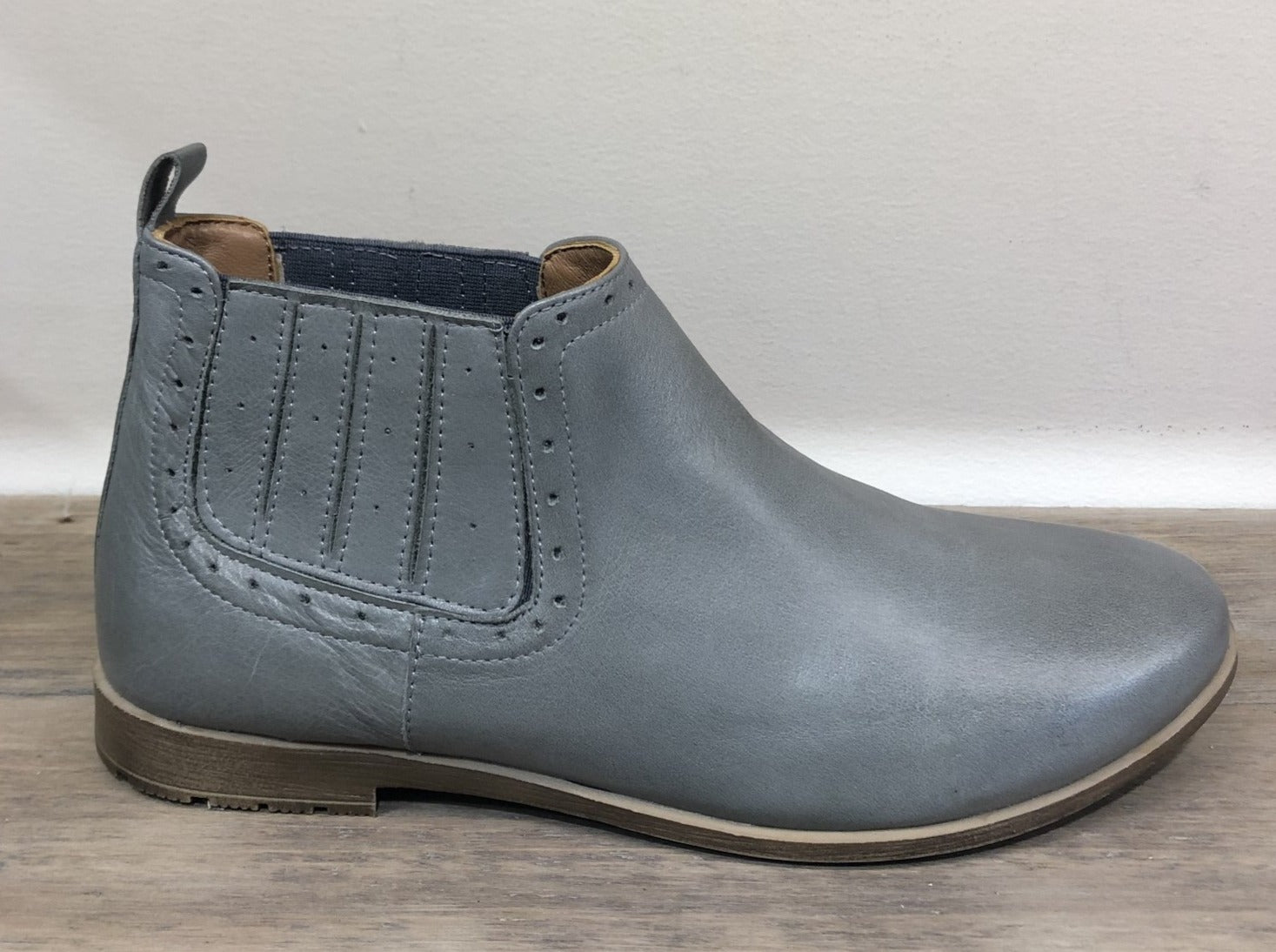 Sala Leather Ankle Boot - Cement