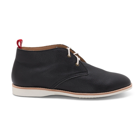 Rollie Chukka Tumble Unlined Lace-up Boot - Black