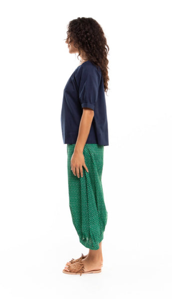 Island Guru Cotton Pant - Emerald Green