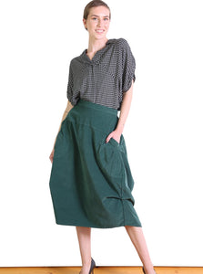 Olga de Polga Downtown Cord Milwaukee Skirt - Green