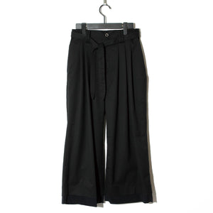 BLACK HONEY CHILI COOKIE Waist Cord Wide Pants / BLACK