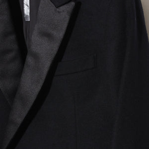 YS Yuji SUGENO Cashmere wool Semi Double Coat / BLACK