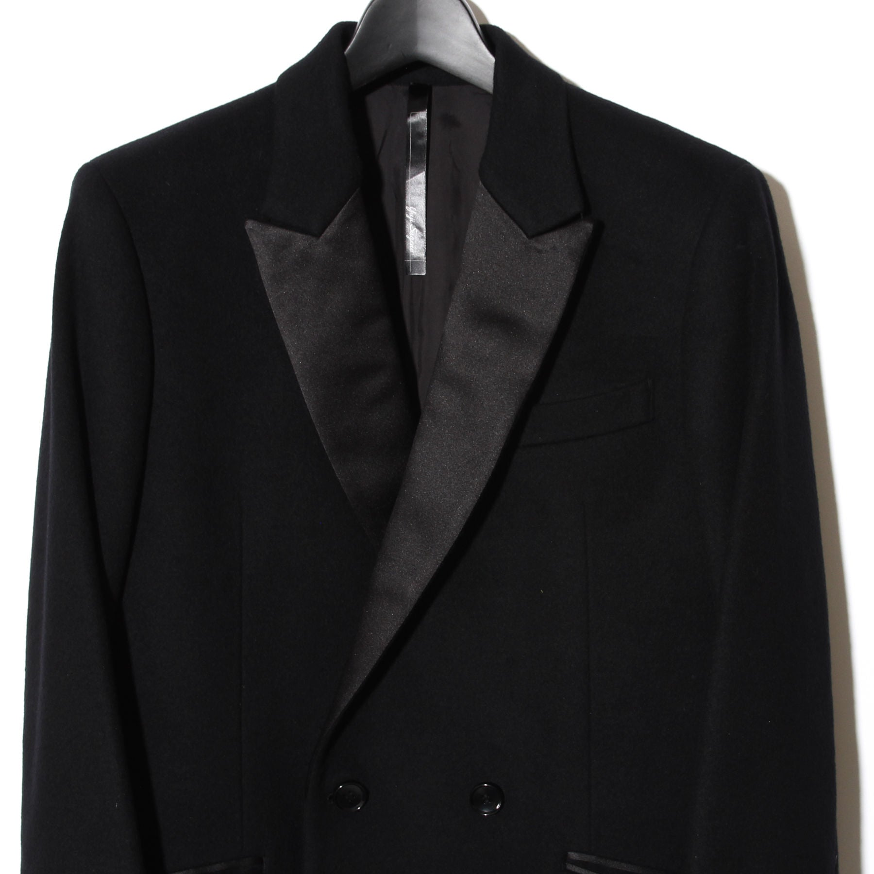 Cashmere wool Semi Double Coat / BLACK