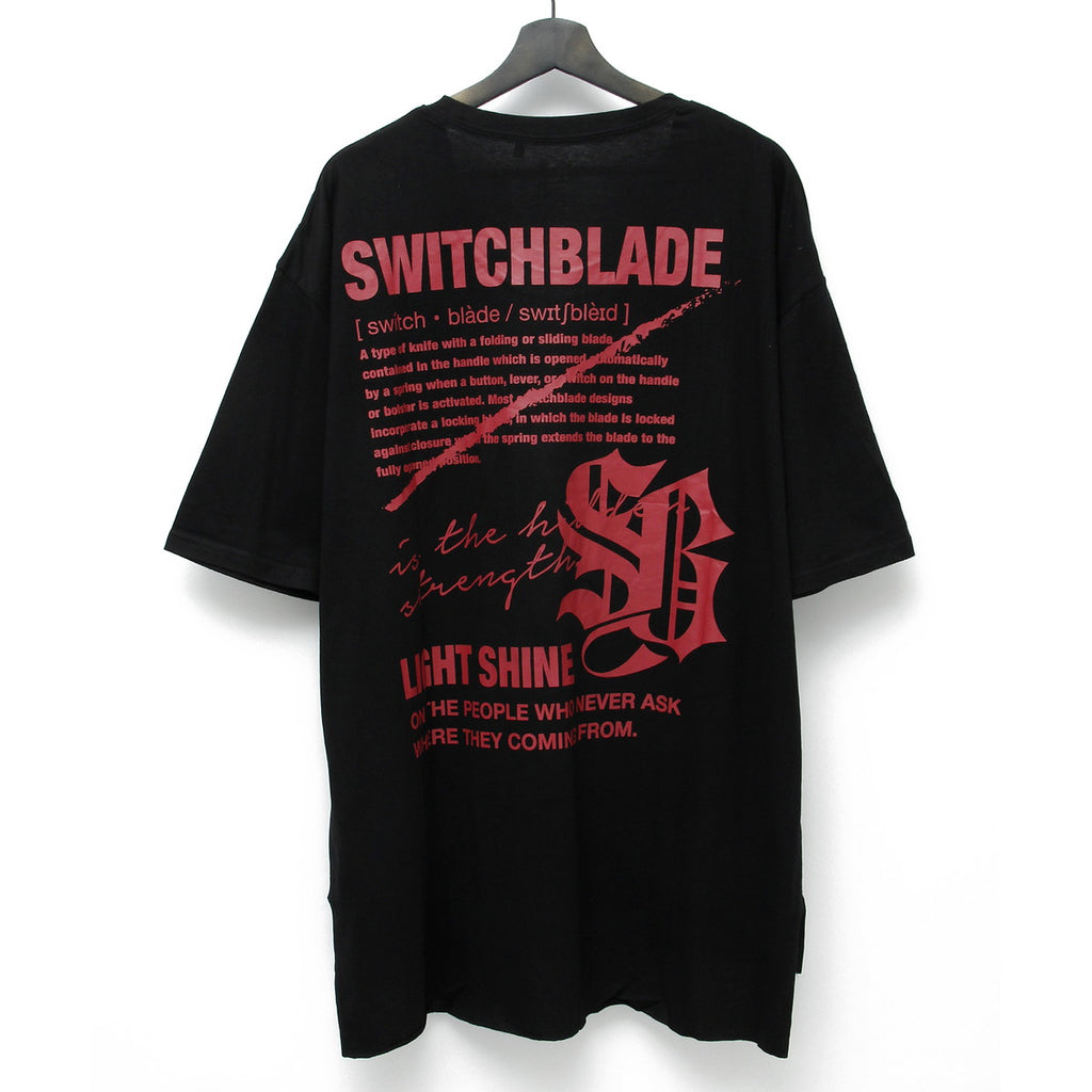 LIGHT SHINE TEE / BLACK×RED