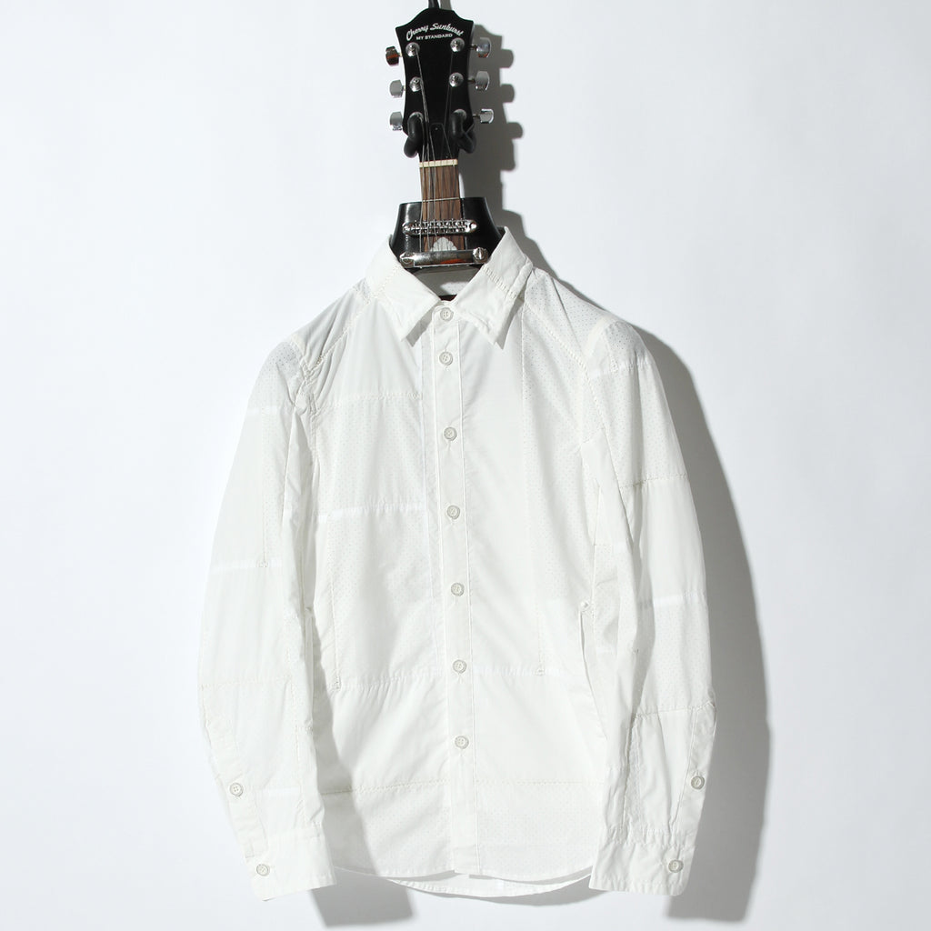 50S×T400 TYPEWRITER PUNCHING #0 OVERLOCK SIDE POCKET SHIRT / A:OFF WHITE