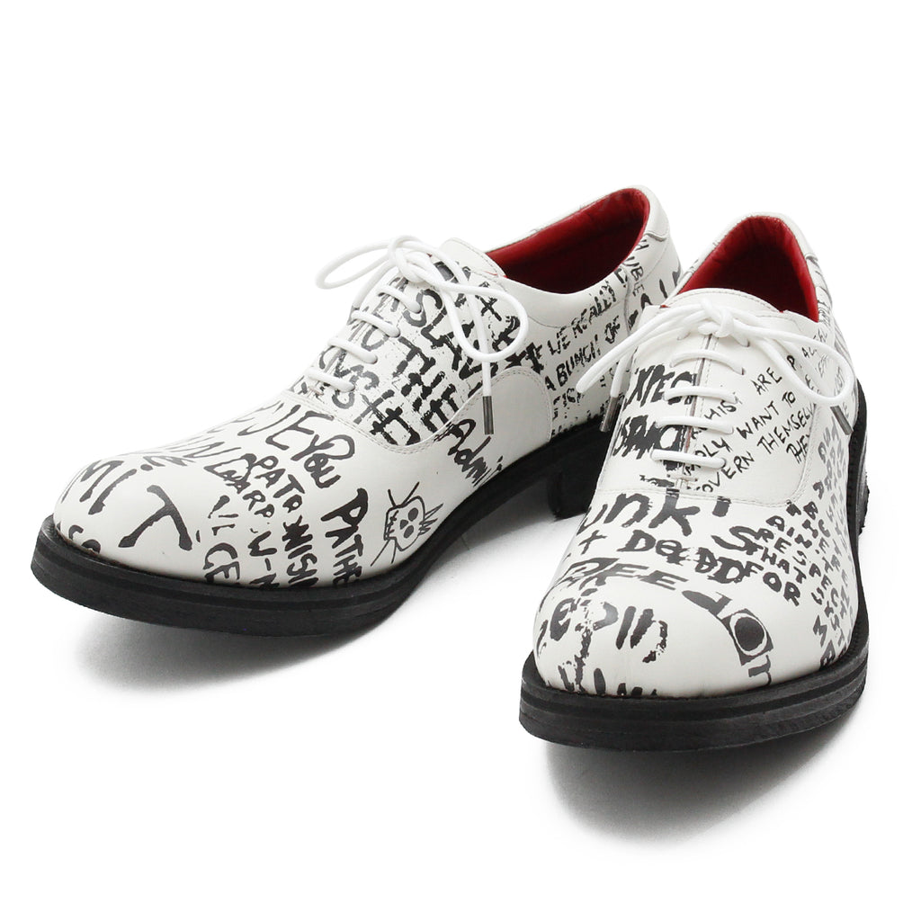 BLACK HONEY CHILI COOKIE Message Print Shoes / WHITE