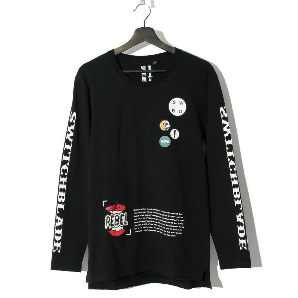 SWITCHBLADE PATCHES L/S TEE / BLACK