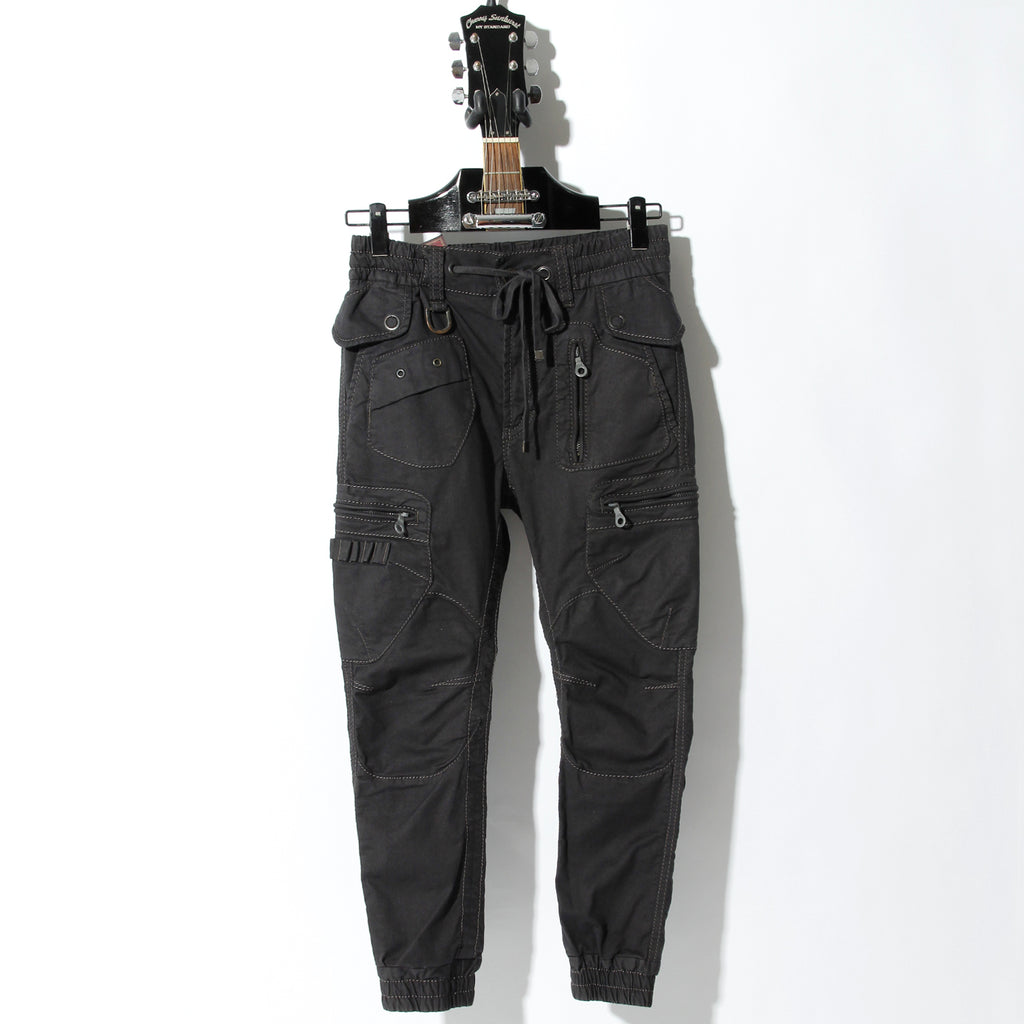 Cherry Sunburst ARMY BROKEN STRETCH GARMENT DYEING CARGO PANTS / B:CHARCOAL