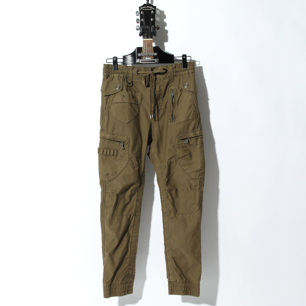 ARMY BROKEN STRETCH GARMENT DYEING CARGO PANTS / A:KHAKI