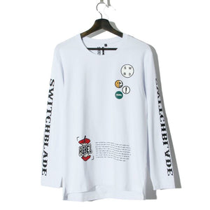 PATCHES L/S TEE / WHITE