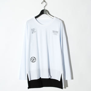 BLACK HONEY CHILI COOKIE  Massage Logo L/S Tee / WHITE