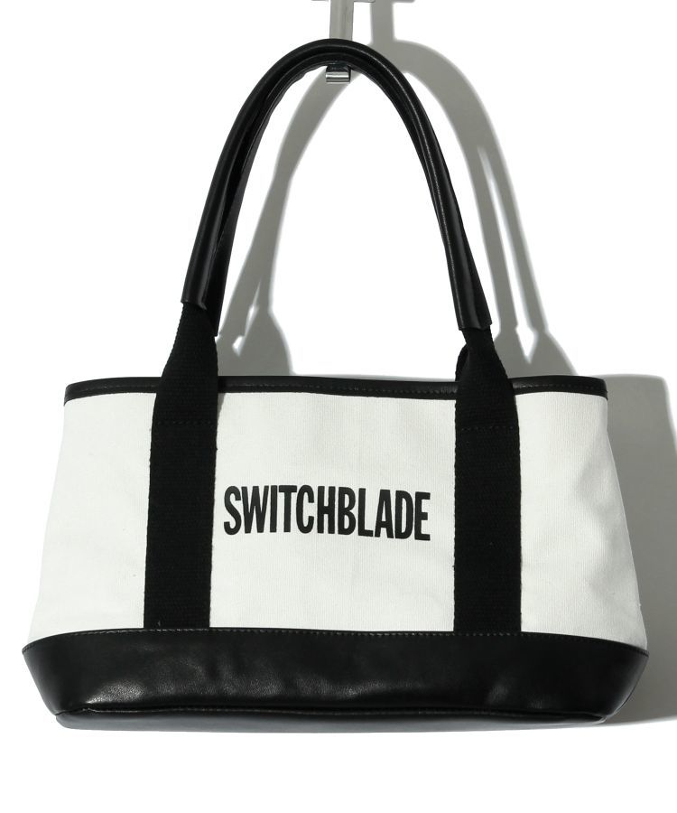 【SWITCHBLADE】MINI TOTE BAG (with POUCH) / WHITE