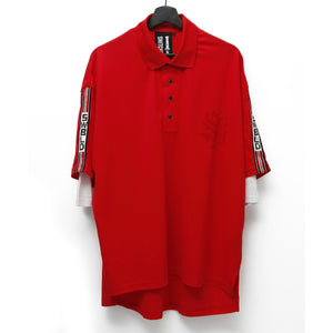 SWBLD LINE POLO SHIRT / RED