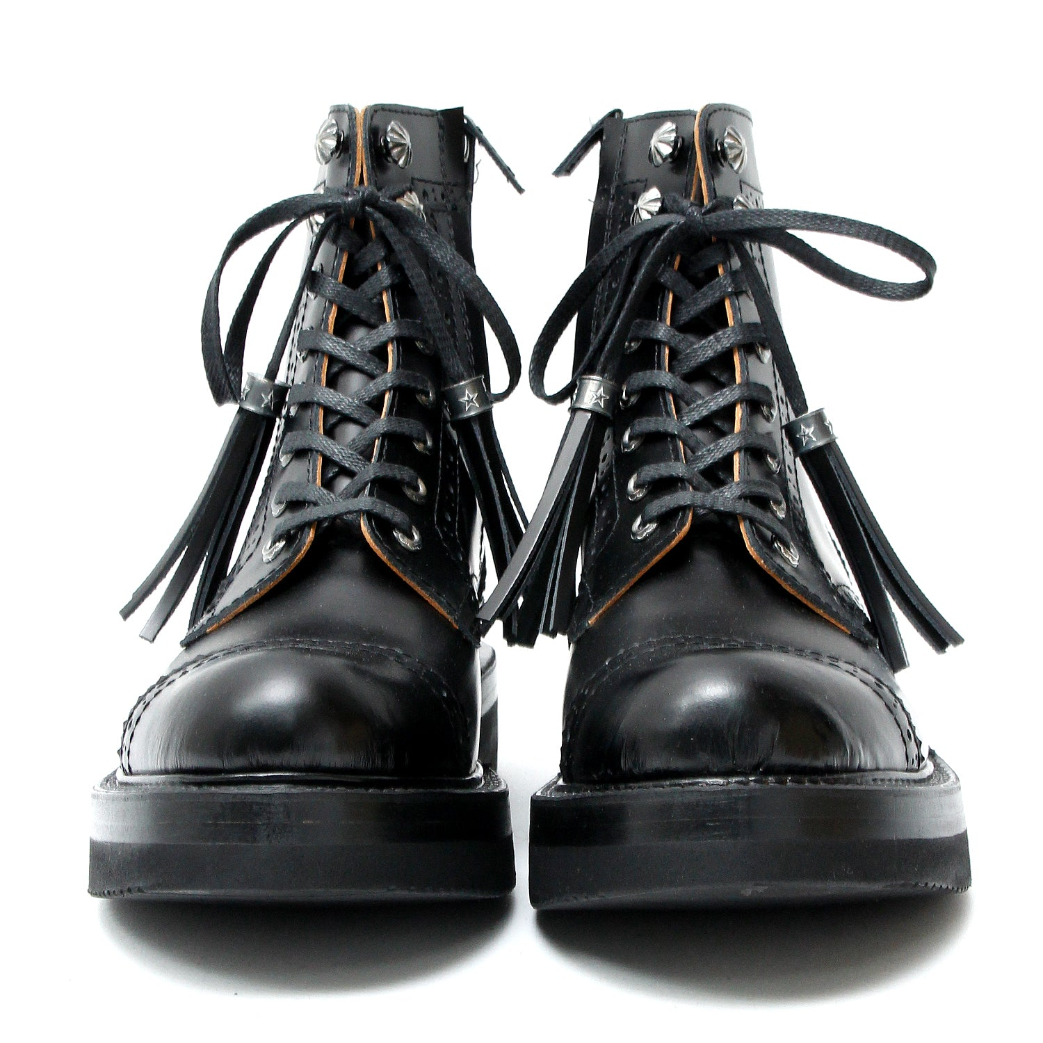 Brogue Boots (Silver Parts Full Custom) / BLACK