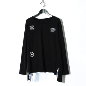 BLACK HONEY CHILI COOKIE  Massage Logo L/S Tee / BLACK