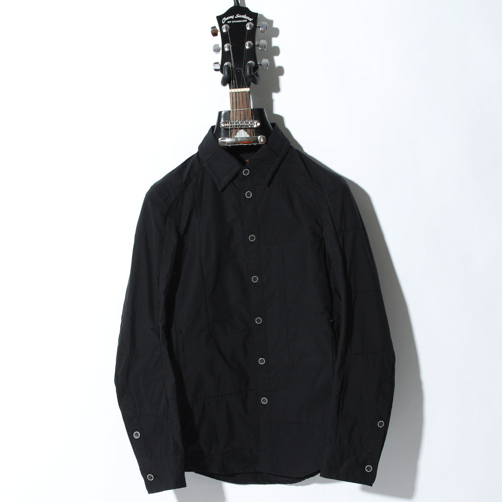 50S×T400 TYPEWRITER PUNCHING #0 OVERLOCK SIDE POCKET SHIRT / B:BLACK