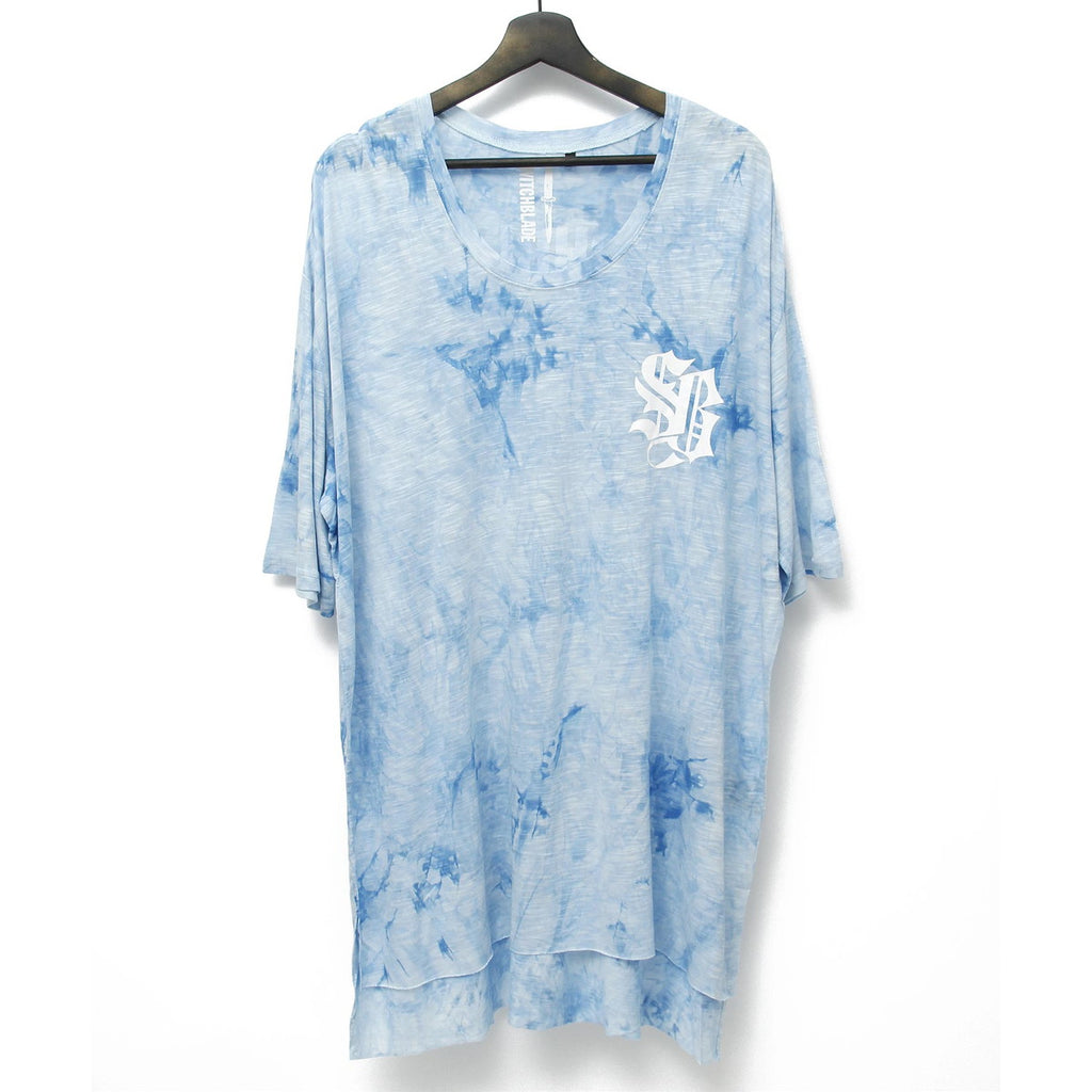 LIGHT SHINE DYEING TEE / BLUE