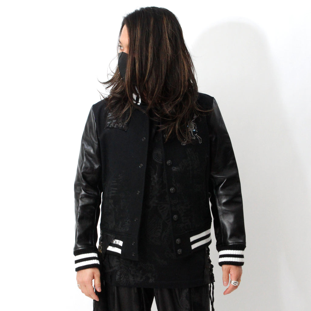 【Roen × Shohei Takamiya】Remake STADIUM JACKET / BLACK