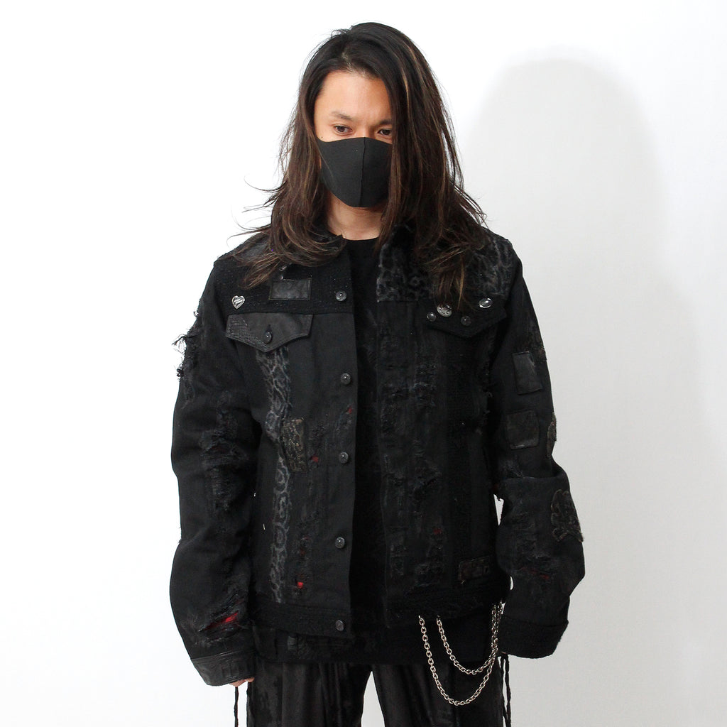 【Roen × Shohei Takamiya】Remake DENIM JACKET / BLACK