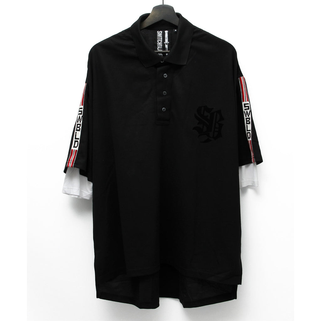 SWBLD LINE POLO SHIRT / BLACK