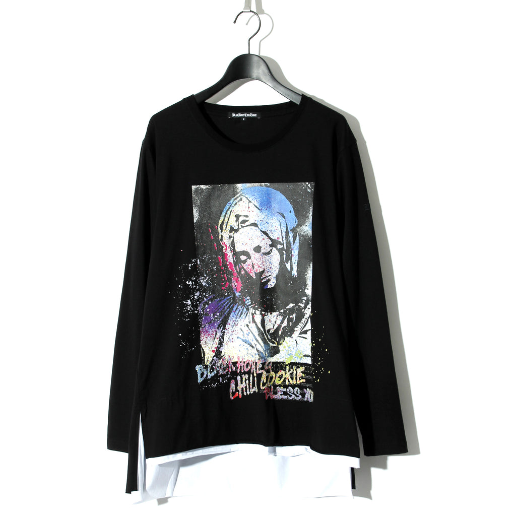 【予約商品】Saint Mary L/S Tee / BLACK