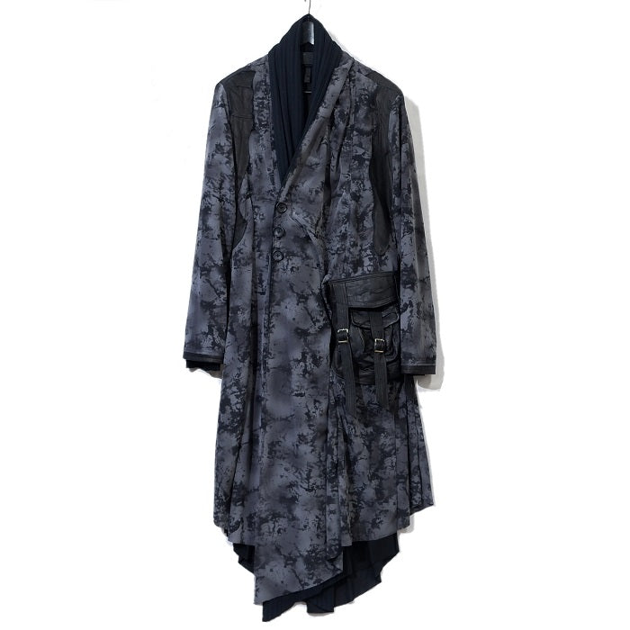 Shohei Takamiya GRAY DYE LONG CARDIGAN COAT / GRAY
