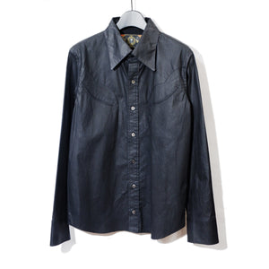 Roen CRACK COATING SHIRT / BLACK