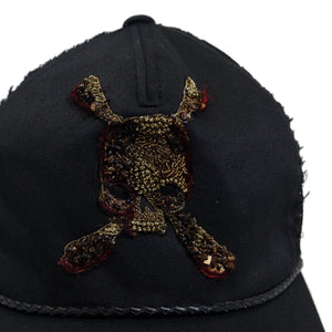 【Roen】SKULL PATCH B/B CAP / BLACK