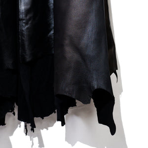 【Shohei Takamiya】Leather long Coat / BLACK