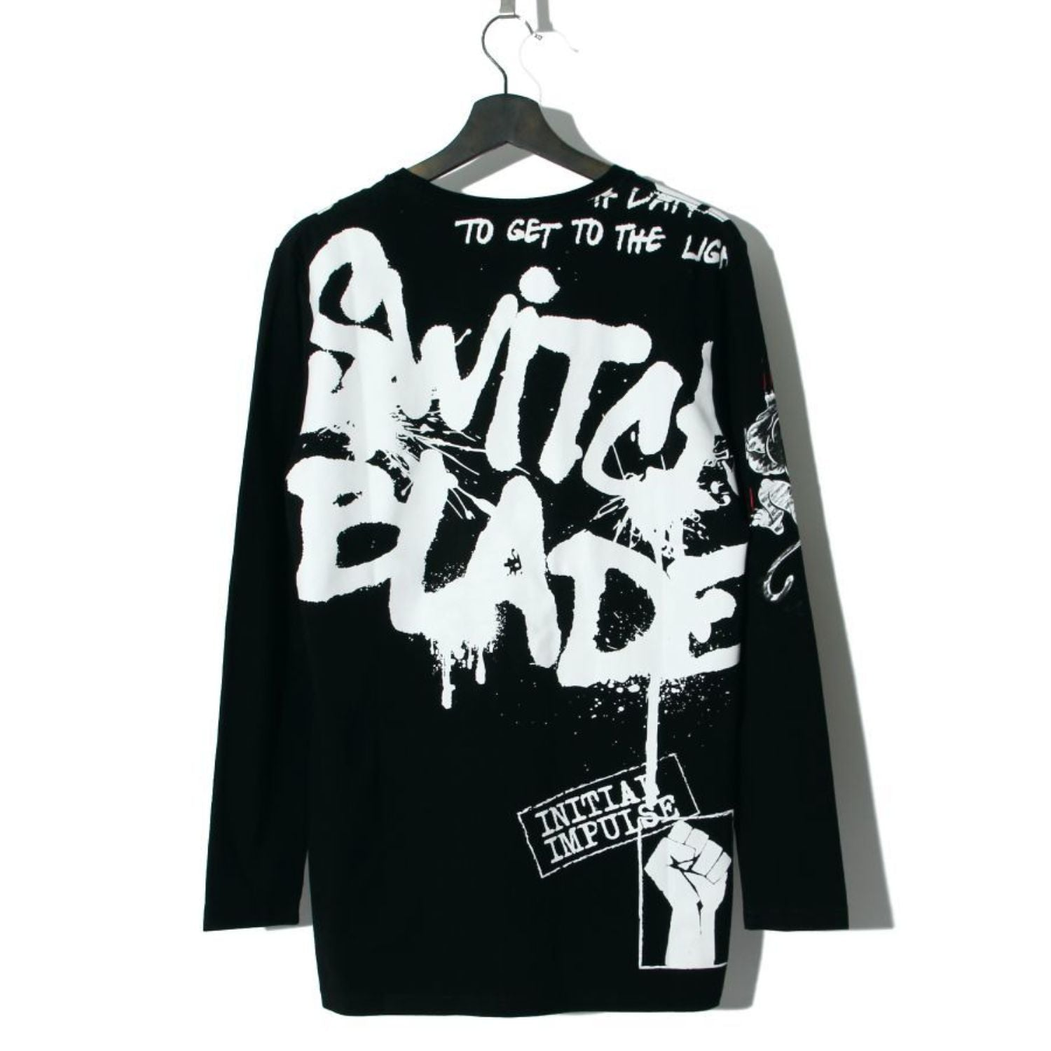 SWITCHBLADE SPRAY GRAPHICS L/S TEE / BLACK
