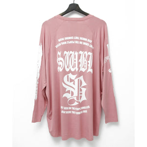 SWITCHBLADE SWBL RAGLAN SLEEVE TEE / SMOKEPINK