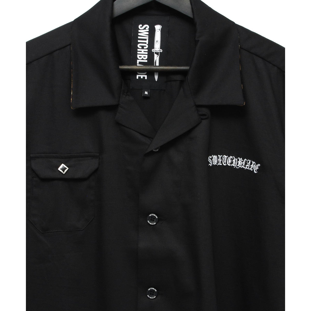 SWITCHBLADE EMBROIDERY SHORT SLEEVE SHIRT / BLACK